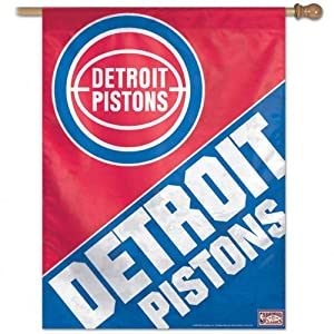 NBA Detroit Pistons 27-by-37-Inch Vertical Flag-Hardwood Classics by WinCraft