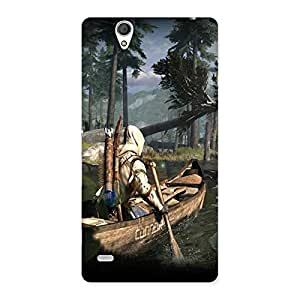 Ajay Enterprises Warrior And Boat Back Case Cover for Sony Xperia C4
