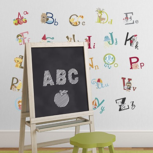 Big graphic alphabet letters kids room nursery wall decal for Large wall letters for nursery