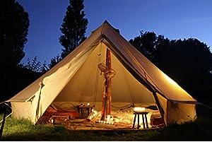 ベルテントBell tent 特大 ハイクオリティ 100%コットン仕様 5m 防水 ティーピーテント グランピング ガーランド付き