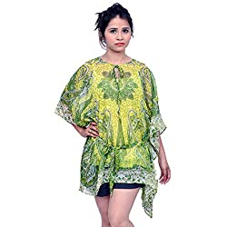Etti Be Trendy Women's Kaftan (ES195_Green_Free Size)