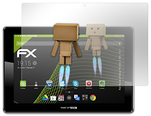 atFoliX Spiegelfolie Point of View ProTab 3 XXL 10.1 - FX-Mirror, vollverspiegelte Premium Folie
