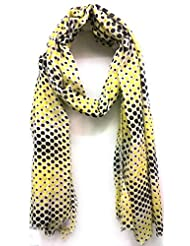 Scarfking Scarfking Pop Dot Printed Stoleyellow Black