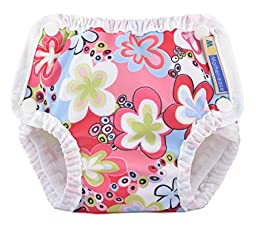 Mother-ease Swim Diapers (Small 7-17 lbs, Splashing Daisies)