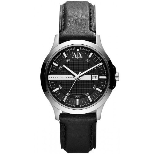Armani Exchange AX2126 Black leather Strap Watch