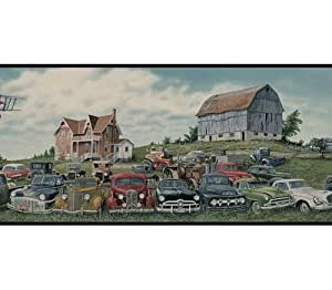 of Cars Wallpaper Border - Black Edge - Chevy Wallpaper - Amazon.com