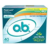 o.b. Applicator Free Digital Tampons, Regular, Super and Super Plus  Multi-Pack - 40 Count