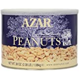 Azar Nut Company Peanuts, Dry Roasted, Unsalted, 2.38-Pound
