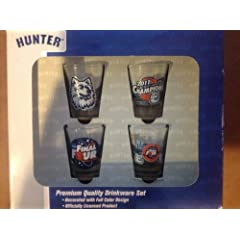Buy NCAA Connecticut Huskies 2011 National Champions 4 Piece Collector Glass Set by Hunter