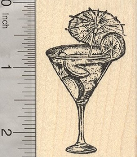Summer Cocktail Rubber Stamp, Limes, Margarita (Margarita Stamp compare prices)
