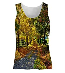 Snoogg Garden Trees And Way Womens Tunic Casual Beach Fitness Vests Tank Tops Sleeveless T shirts