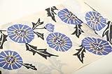 紫織庵浴衣反物(ブランド紫織庵・クリーム色地・絽・あざみ・お洒落・夏着物・綿100%)
