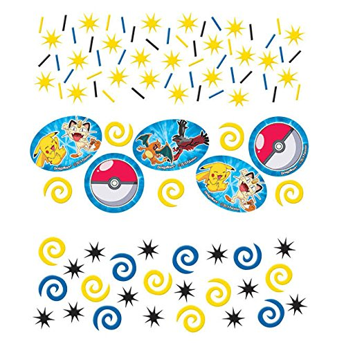 Amscan Fun Pikachu & Friends Party Confetti Value Pack (1 Piece), Multi, 12 oz
