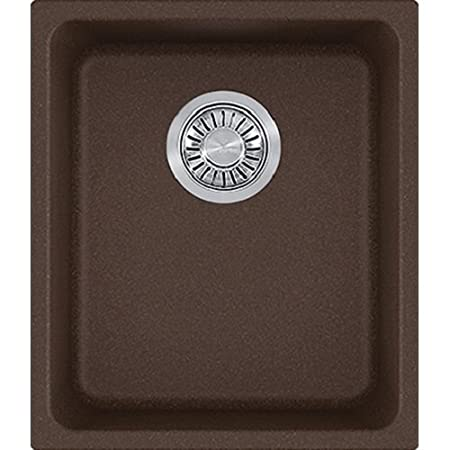 Franke KBG11013MOC Kubus Granite Undermount Single Bowl Kitchen Sink, Mocha
