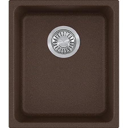 Franke KBG11013MOC Kubus Granite Undermount Single Bowl Kitchen Sink, Mocha