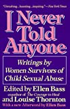 cover of I Never Told Anyone : Writings by Women Survivors of Child Sexual Abuse