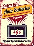 AUTO BATTERIES METAL SIGN RETRO VINTAGE STYLE LARGE 12X16in 30x40cm