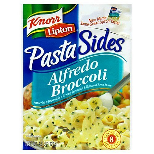 Knorr/Lipton Noodles & Sauce, Alfredo Broccoli, 4.5-Ounce Packages (Pack of 12)
