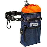 F-color Waterproof Pet Dog Training Pouch Treat Bag (Orange/ Navy/ Black)