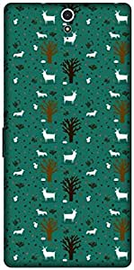 The Racoon Lean printed designer hard back mobile phone case cover for Sony Xperia C5 Ultra. (TREES AND)