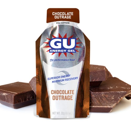 GU Energy Labs Gu Energy Gel, Chocolate Outrage, 24-Count