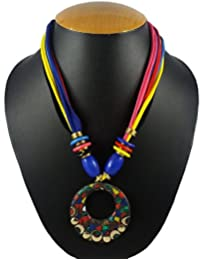 Aradhya Multi Color Artificial Fashion Jewellery Collection Rajasthani Office Wear Necklace For Women