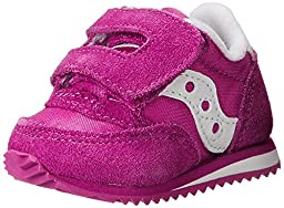 Saucony Girls\' Baby Jazz Crib Sneaker (Infant),Paradise Pink,0 M US Infant