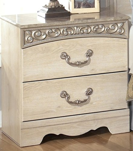 Ashley Furniture Killeen Texas: Opulent White Night Stand By Ashley Furniture