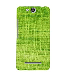 PrintVisa Green Knitted Cloth Design 3D Hard Polycarbonate Designer Back Case Cover for MicromaxBoltQ338