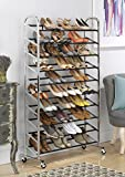 Whitmor 6060-3510 Chrome Supreme 50 Pair Shoe Rack