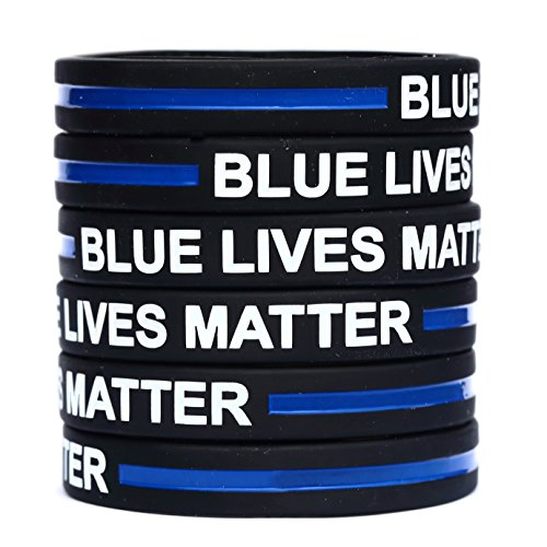 10-Blue-Lives-Matter-Thin-Blue-Line-Silicone-Wristbands-SayitBands-Brand