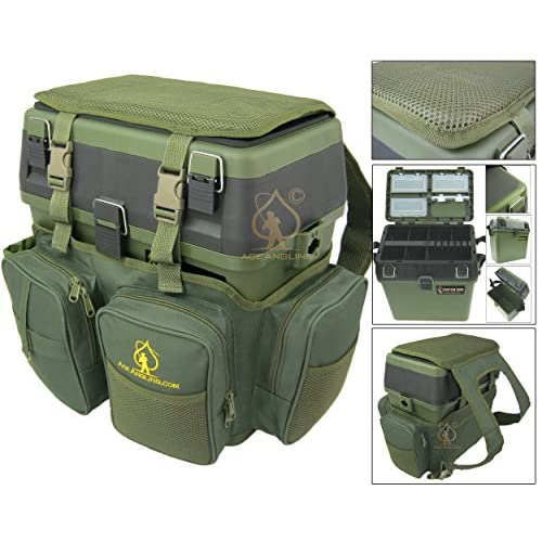 <strong>Fishing Seat Box< strong> & Rucksack. Ace Angling™ Fly Sea Coarse <strong>Fishing Seat< strong> Backpack.