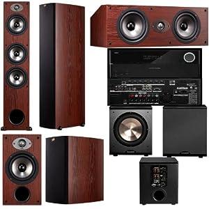 Polk Audio TSX440T 5.1 Home Theater System (Cherry)-Harman Kardon AVR 2700 7.1