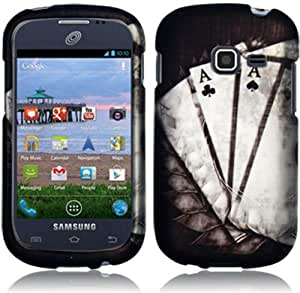 Samsung Galaxy Discover S730g ( Straight Talk , Net10 ) Phone Case Accessory Winner Spade Design Hard Snap On Cover with Free Gift Aplus Pouch