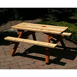 4 ft. Childrens Picnic Table by Moon Valley Cedar Works