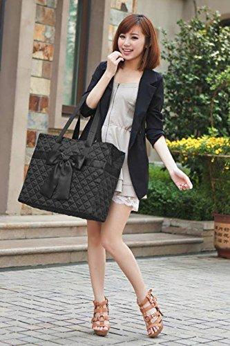 l-size-rectangular-shoulder-bag-black-satin-bow-in-front-by-naraya-thailand