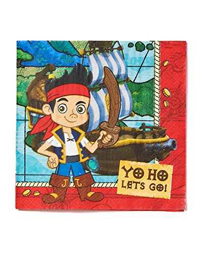 American Greetings Jake and the Never Land Pirates Lunch Napkins, 16 Count, Party Supplies Novelty - 1
