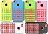 Lot Of 6pcs In Stock New Holes Design Silicon Rubber Soft Protective Case Cover Accessories for Iphone 5C Black White Blue Pink Yellow Green