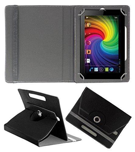 Acm Rotating 360° Leather Flip Case For Micromax Funbook Mini P410 Tablet Cover Stand Black  available at amazon for Rs.149