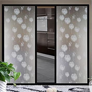 Buy Waterproof Dandelion Frosted Privacy Home Bedroom Bathroom - Window stickers for home india