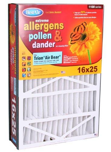 Cheap BestAir AB1625 Trion Air Bear Pleated Filter 16x25x5 (AB1625)