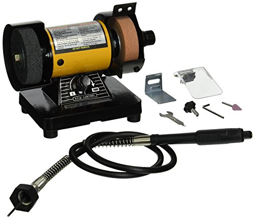 TruePower 199 Mini Multi Purpose Bench Grinder and Polisher with Flexible Shaft, Tool Rest and Safety Guard, 3-Inch (Mini Bench Grinder Polisher compare prices)