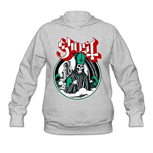 [PHOEB Womens Sportswear Drawstring Hoodie Sweatshirt,Ghost B.C. Ash X-Large] (Slimer Costume Plus Size)