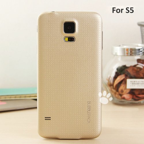 Galaxy S5 Back Cover, ANLEY Bubble Pack Series - [Original Fit] [Identical Details] Back Battery Cover Plate Replacement for Samsung Galaxy S5 (Gold) + Free Ultra Clear Screen Protector Film (S5 Back Cover Replacement Gold compare prices)