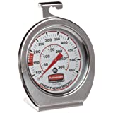 Rubbermaid Commercial FGTHO550 Stainless Steel Oven Monitoring Thermometer, 60 to 580 Degrees F/20 to 300 Degrees C Temperature