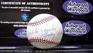 Orlando Cepeda autographed Baseball inscribed Baby Bull HOF