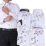 (アトリエサンロクゴ) atelier365 ワイシャツ 選べる6種類 5枚セット長袖 /at101-3L-45-85-AT101-Hset