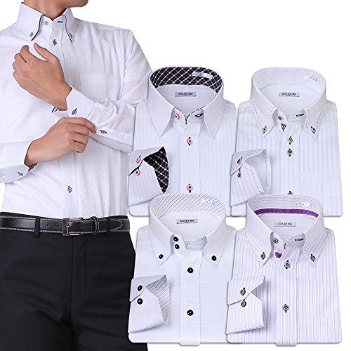 (アトリエサンロクゴ) atelier365 ワイシャツ 選べる6種類 5枚セット長袖 /at101-L-41-83-AT101-Hset