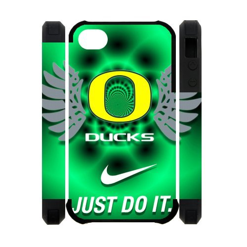 Forever Collectibles Oregon Ducks Graphics NCAA College Team iPhone 4 4S Dual-Protective Polymer Case Cover with NIKE JUST DO IT Logo