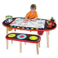 ALEX® Toys Artist Studio Super Art Table /W Paper Roll -Wood 711W